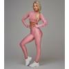 35374d3e090454 OLIMP Leginsy damskie QUEENS GANG - High Waist Dirty Pink