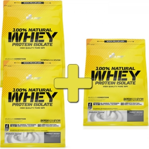 OLIMP 100% Natural Whey Protein Isolate 600 g - 2+1 = 1800 g